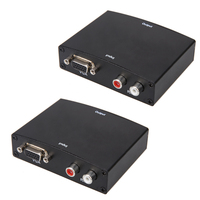 US EU Version 1080P VGA To HDMI With Audio Adapter Converter With LED Power Indicator Light