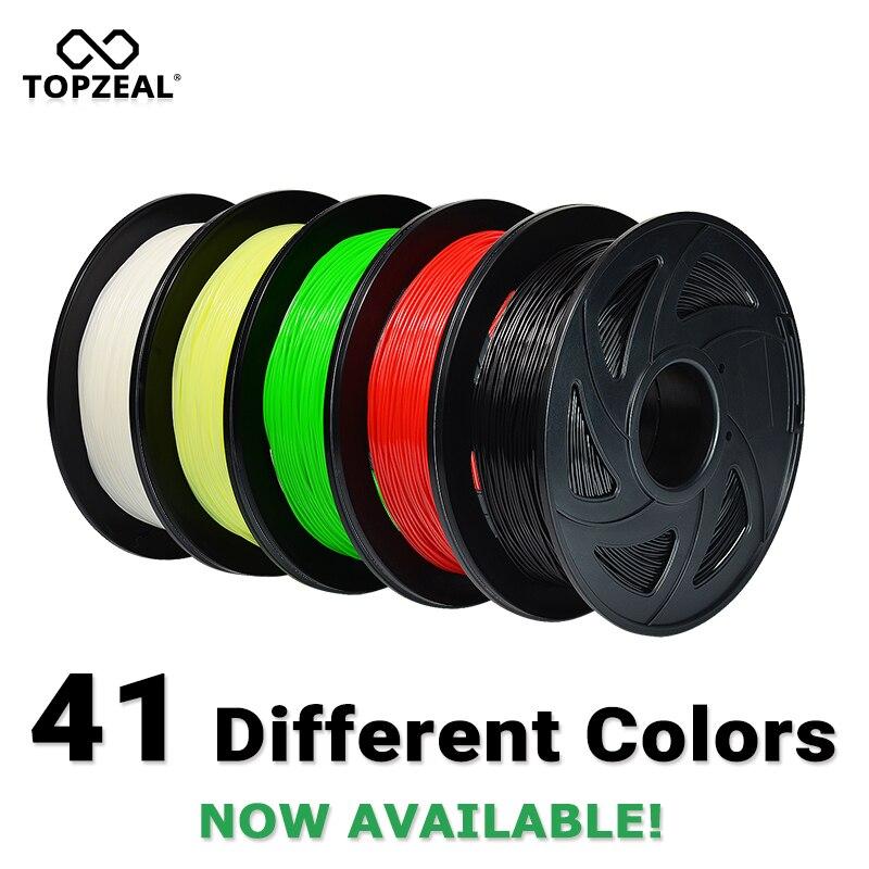 Filamento PLA de la impresora 3D 1,75mm precisión Dimensional del filamento +/-0,02mm 1 KG 343 M 2.2LBS 3D material de impresión para RepRap