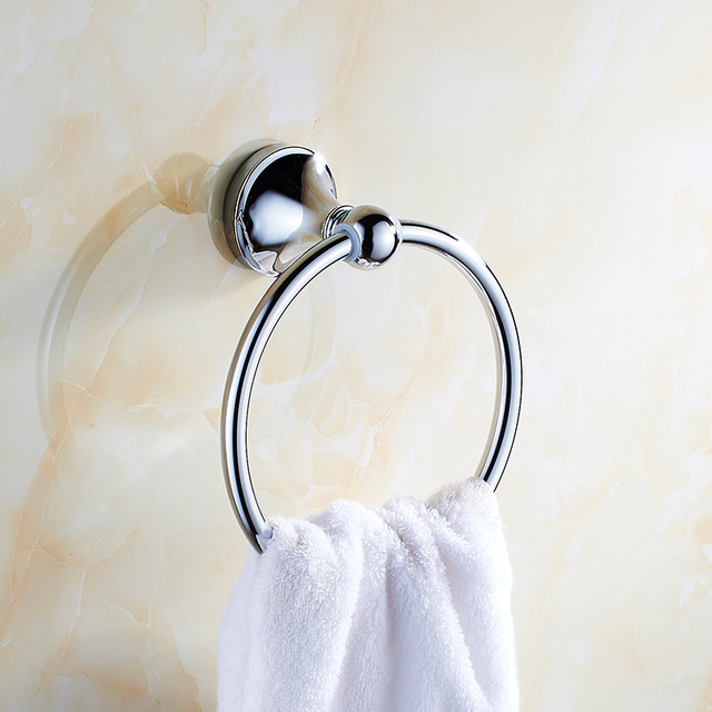 Stainless Steel Bathroom Towel Ring Shelf, Toilet Wall Mounted Towel Ring  Rack, European Kitchen