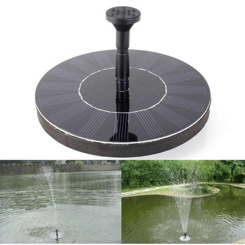 200l h 1 4w floating solar power fountain panel kit for Garden water pump