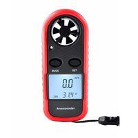 Mini Digital Anemometro 0-30 m/s di Velocità del Vento Meter-10 ~ 45C Temperatura Tester Anemometro LCD Retroilluminazione Aria velocità di Misura Strumenti