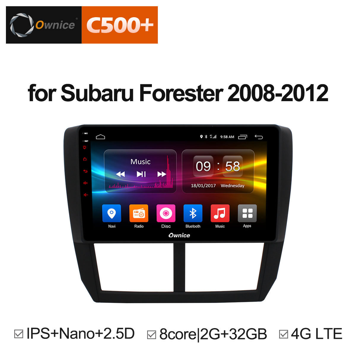 Ownice C500+ G10 Octa 8 Core Android 8.1 2G RAM Car DVD GPS Navi Player Radio For Subaru Forester XV WRX 2008 2009 - 2012 DAB+ ownice c500 4g sim lte octa 8 core android 6 0 for kia ceed 2013 2015 car dvd player gps navi radio wifi 4g bt 2gb ram 32g rom