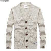 Cardigans Men Sweaters New 2017 Knitwear Button Fly V neck Cardigan Top Quality Brand Clothing Fashion Male Slim Christmas Coat