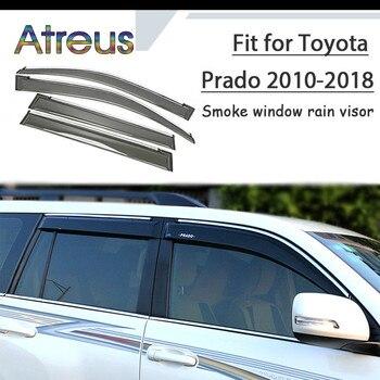 Atreus 1set ABS Rain Smoke Window Visor Car Wind Deflector For Toyota Prado J150 2010 2011 2012 2013 2014 2015 2016 2017 2018
