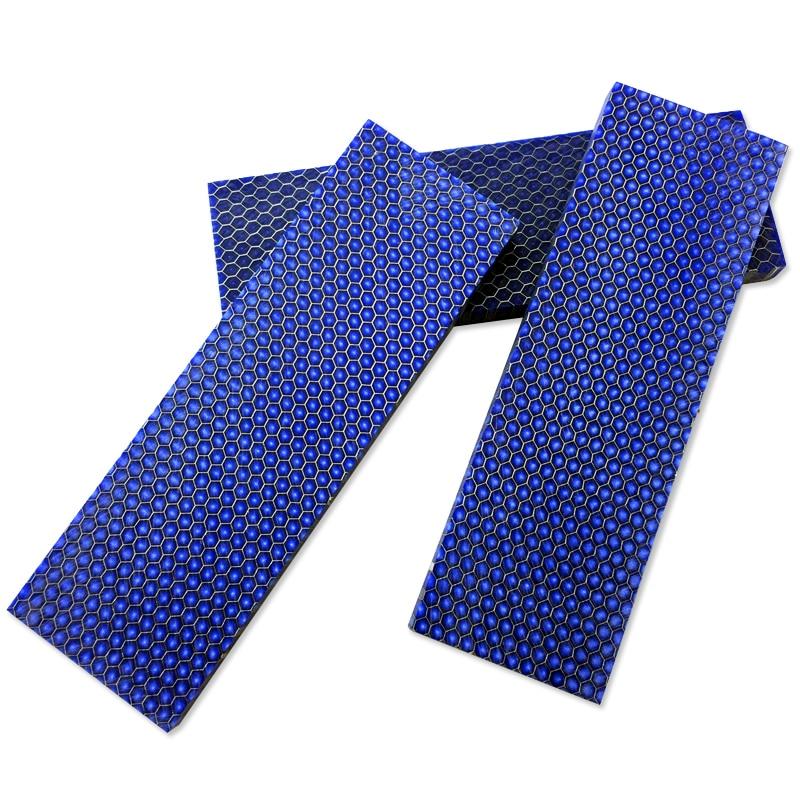 Blue C-Tek Knife Handle DIY Material Plate Resin Material Snake Grain Honeycomb Pattern Slingshot Handle -1 Piece