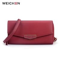 Multi function Messenger Bag & Long Wallet Clutch For Women Mini Crossbody Purses Letter Pattern Envelope Shape Bolsas