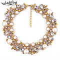 New Arrival Good Quality za Brand Simulated Pearl Statement Luxury Vintage Necklace Women Collar Choker Jewlry Gifts 9593
