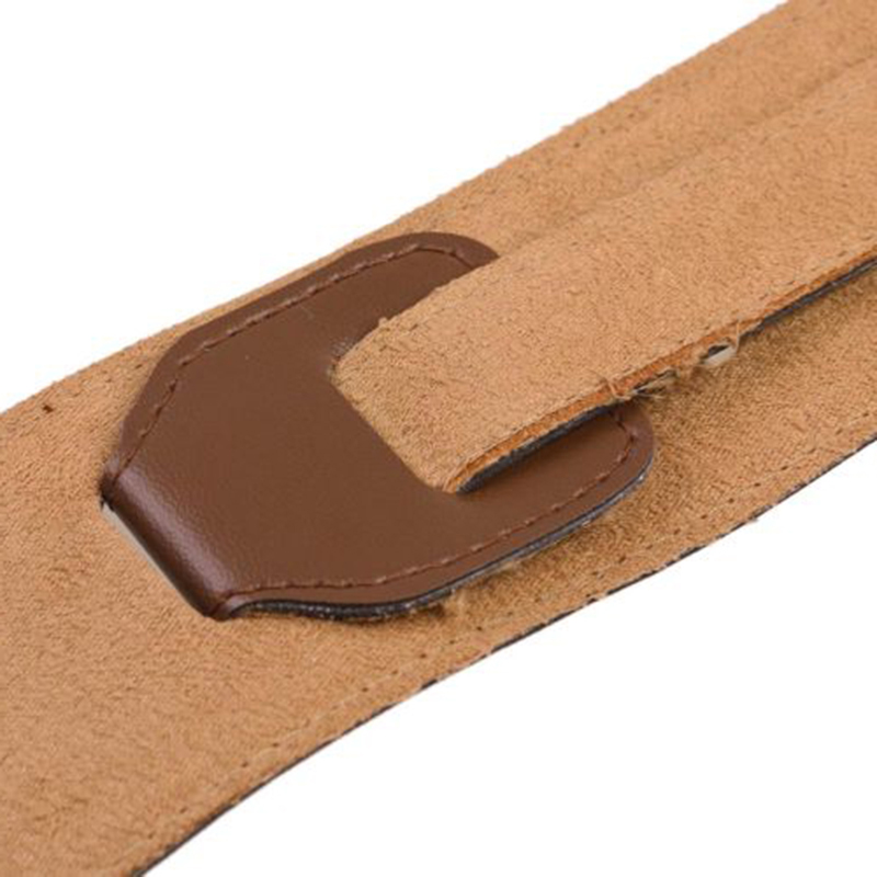 New Brown Adjustable Soft PU Leather Thick Strap For Electric Acoustic Guitar Bass Belt Musical Instruments Accessories