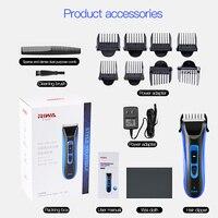 Riwa Rechargeable Men Haircut Machine Trimmer RE 750A Hair Clipper Blade Plated Titanium Ceramic Head Hair Styling Accessories