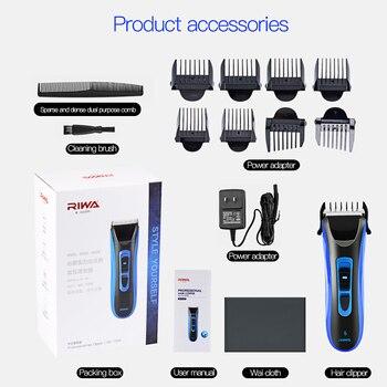 Riwa recargable pelo de los hombres trimmer re-750a cortapelos hoja plateado titanio cerámica cabeza Accesorios de estilismo