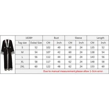 Maxi Cardigan Taglie Forti | Modo Di Inverno Di Autunno Che Borda Le Donne Abaya Abito Lungo Musulmano Vestito Cardigan Più Il Formato Appliques Musulmano Abaya Maxi Vestito