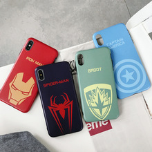 Cartoon Marvel Heroes symbol Phone Case For iPhone XR XS MAX X Fashion Funny Patterned 8 7 6S Plus Soft Cover Coque
