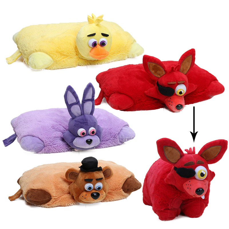 Five Nights At Freddy's Toy 43cm*30cm FNAF Pillow Mangle Foxy Chica Bonnie Golden Freddy Fazbear Plush Toys Cushion Juguetes