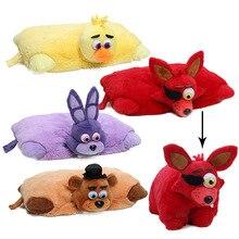 Pięć nocy w zabawce freddyego 43cm * 30cm FNAF poduszka Mangle Foxy Chica Bonnie Golden Freddy fazbear pluszowe zabawki poduszka juguetes