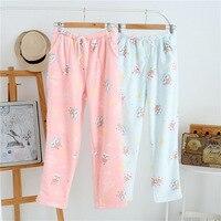 Flanela Bonito Kawaii coruja sono bottoms para as mulheres inverno engrossar manter aquecido calças pijamas calças soltas mulheres calças pura Quente venda