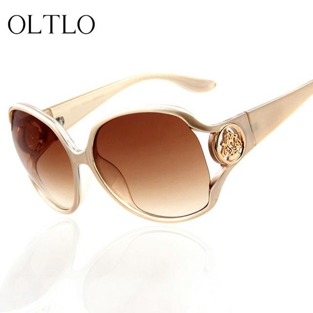Sunglases Marca OLTLO Oco Flor Mulheres Óculos de Sol de Luxo Baixo Preço Oversized Sunglass Eyewear gafas oculos de sol com caixa