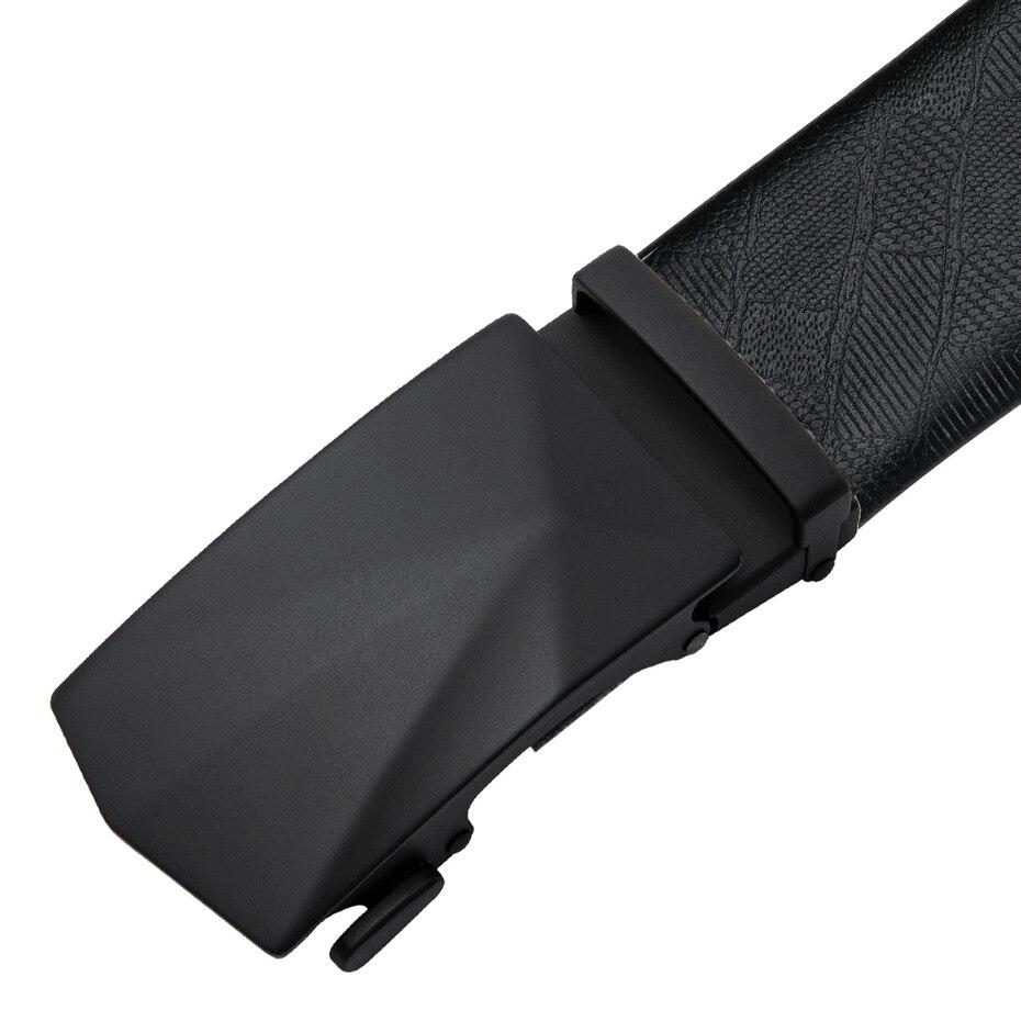 DiBanGu Men Belts Box Set Automatic Buckle Luxury Leather Belts For Men Formal Suit 110-160cm Long Men's Luxury Belt Gift Box