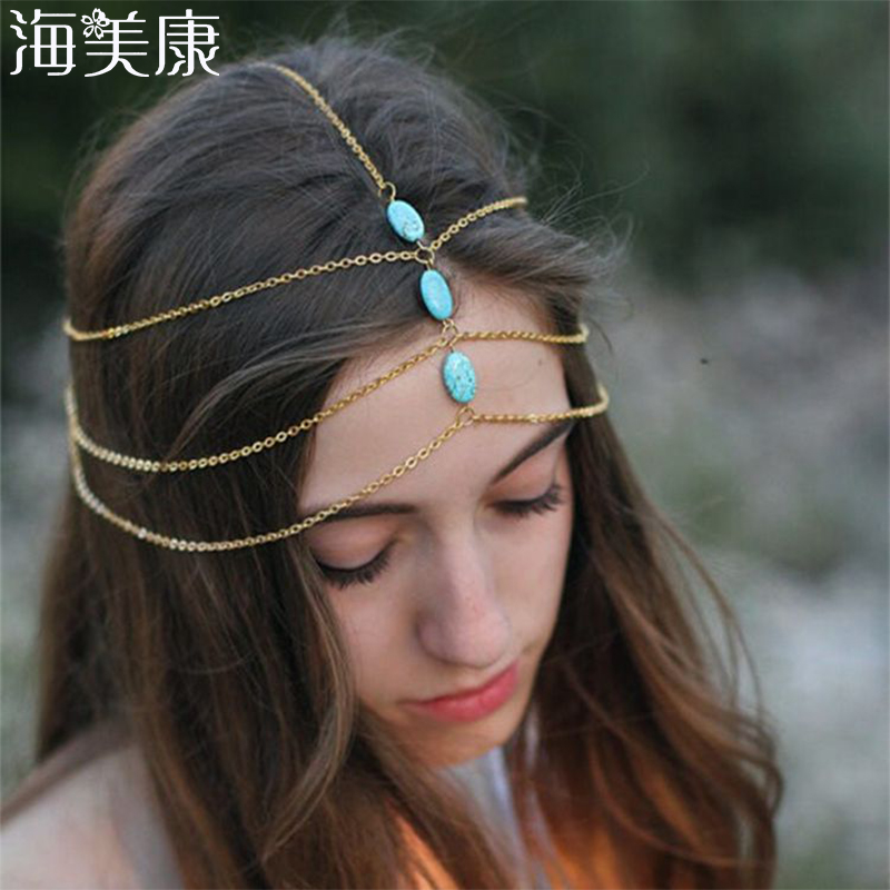 Haimeikang Women Head Chain Jewelry Headband Party Headpiece Hair Band