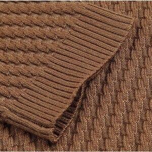 Image 5 - Thoshine marca primavera autunno stile uomo maglione in Twill lavorato a maglia bottoni sottili con scollo a v pullover Casual da uomo maglioni Homme tinta unita