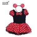 Vestido de fiesta de Navidad de Halloween Cosplay De Navidad Minnie Mouse Niñas Niños de Cumpleaños de la Muchacha de Lujo Traje de Ballet Tutu Vestido de los niños