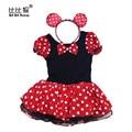 Xmas Minnie Mouse Meninas Vestido De Natal do dia das bruxas Cosplay Traje Extravagante festa de Aniversário Crianças Menina crianças Ballet Tutu Vestido