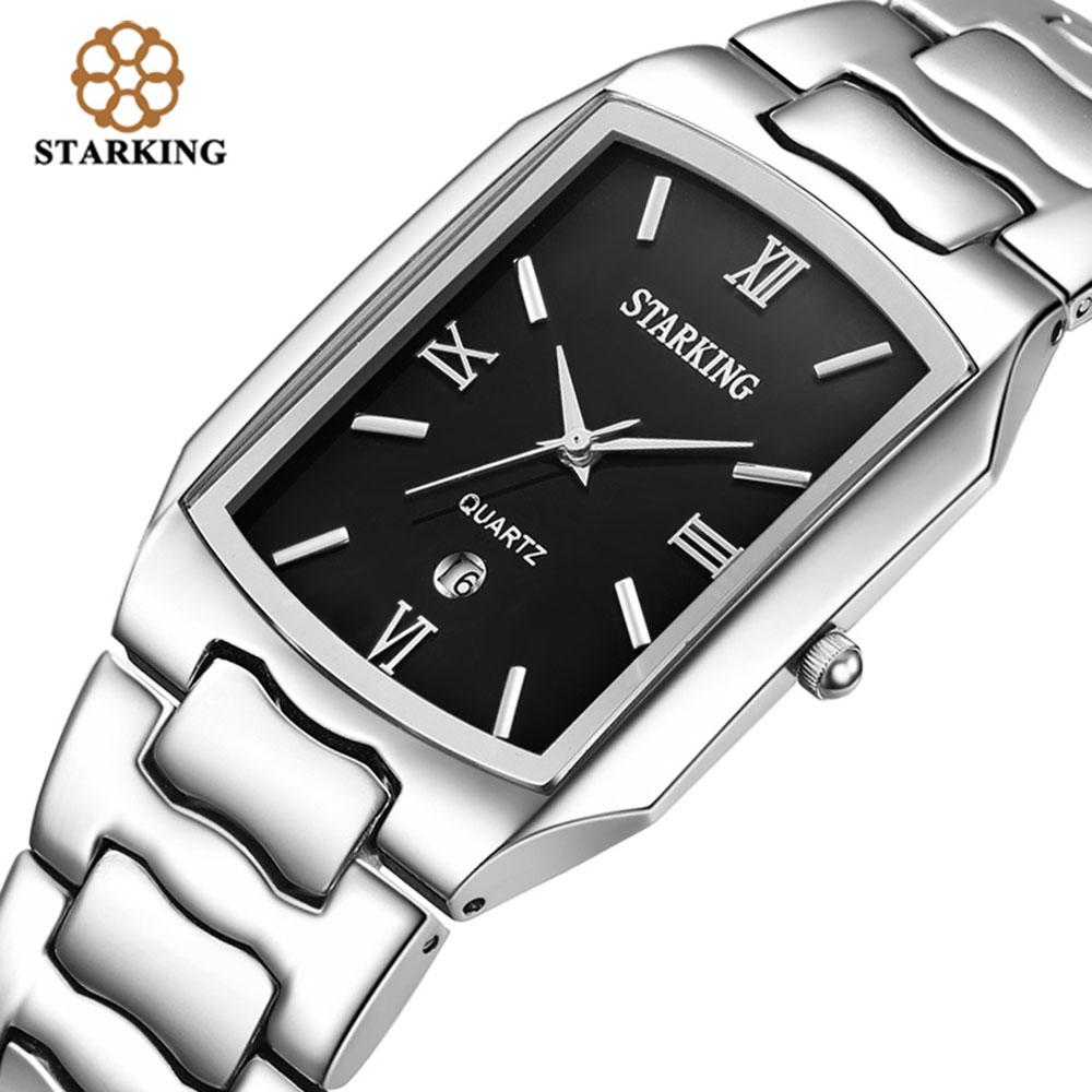 STARKING Hombres Movimiento japonés Relojes de cuarzo Hombres de negocios 2016 Llegada Moda Casual Marca famosa Reloj de acero inoxidable BM0605