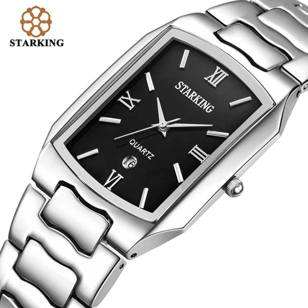 STARKING Männer Japanischen bewegung Quarz Uhren Geschäftsleute 2016 Ankunft Mode Lässig Berühmte Marke Edelstahl Uhr BM0605