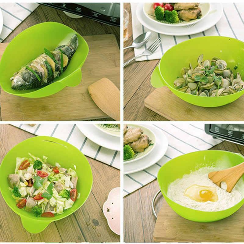 للطي وعاء سيليكون فرن الميكروويف باخرة الخبز الأسماك البخار المحمصة الخبز المنزل مطبخ الطبخ أداة DTT88
