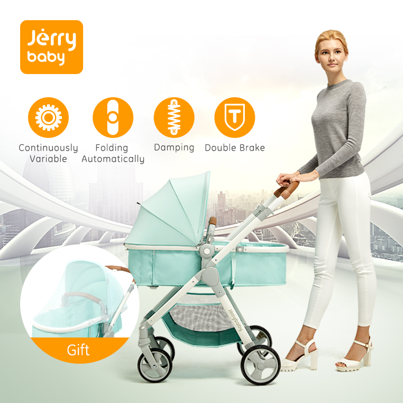 Baby Stroller High Landscape Baby Carriage Newborn Ultra-light Portable Folding Stroller Continuously Variable Trolley AirplaneBaby Stroller High Landscape Baby Carriage Newborn Ultra-light Portable Folding Stroller Continuously Variable Trolley Airplane