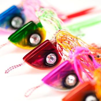 5PCS Countbass 100g 3.5oz Fire Ball Tai Rubber Kabura Jig Slider Fishing Lure Salty Rubber Skirt Sinker Lead Snapper Jigging