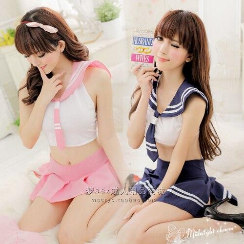 일본과 한국 여성의 학교 유니폼 유혹 섹시한 란제리 섹시한 선원 정장 + 주름 치마-에서일본과 한국