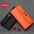 BVLRIGA 100% dólar preço bolsas de luxo genuíno carteira de couro titular do cartão de mulheres carteiras designer de alta qualidade saco de embreagem da marca