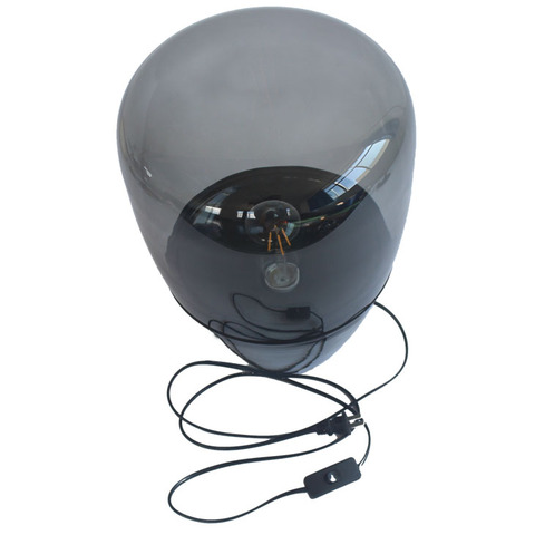 fumaca cinza lampadas de cabeceira candeeiro