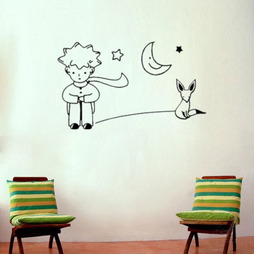 Limit Buy On Sale Newest Little Prince Fox Moon Star Decor Mural Art Wall Sticker Decal Room
