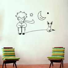 Limit buy On Sale Newest Little Prince Fox Moon Star Decor Mural Art Wall Sticker Decal room decoration(China)