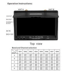 Image 5 - LCD5802D LCD5802S 5802 5.8 グラム 40CH 7 インチ Raceband FPV モニター 800 × 480 Dvr ビルドのバッテリービデオ画面 Fpv Multicopte