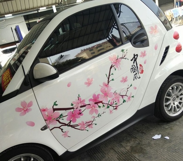 Pink Flower Stickers For Cars Custom Sticker - Pink motorcycle helmet decalsplumeria flower with swirls and dots sticker car stickers