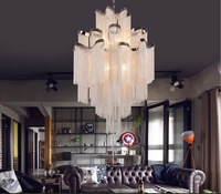 Newly French Empire Chain Chandelier Light Fixture Long Chain Hanging Suspension Lustre Lamp Chain Light
