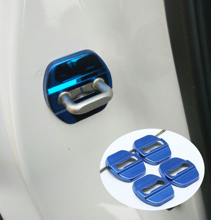 Pour nissan Micra K13 Leaf Altima L32A L33 2010-2019 style de voiture en acier inoxydable serrure de porte boucle housse de protection de haute qualité