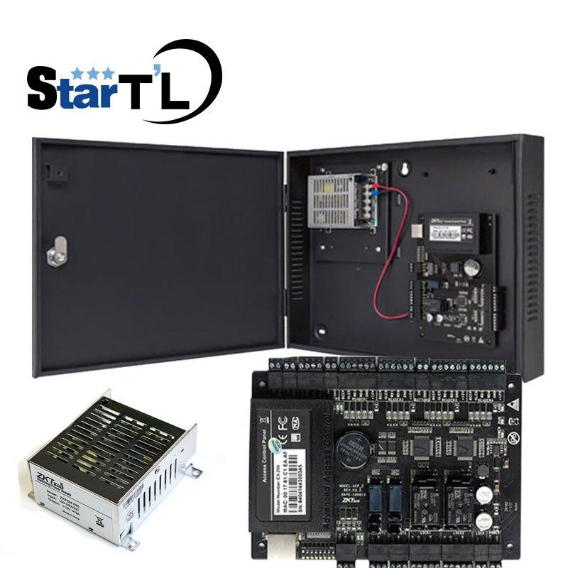 Free Shipping zkTcp ip C3 200 two door access control panel door access control board Power