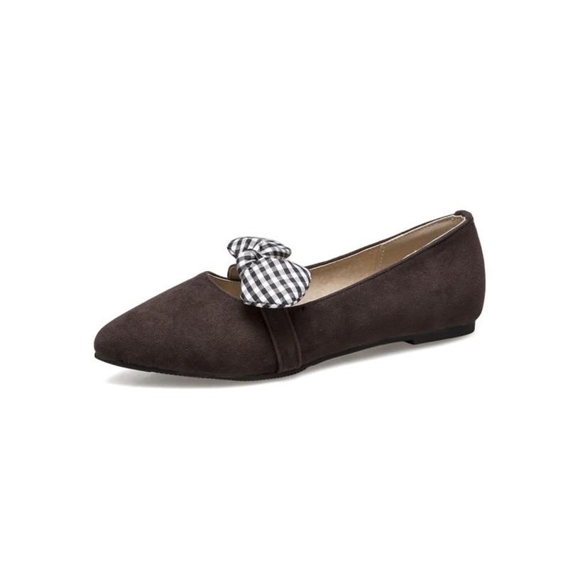 Pointu Femmes Black Casual Automne Bureau brown Papillon 2018 Appartements noeud Chaussures Sexy Bout gray Courroie De Mode Noce Troupeau Mocassins Printemps SYSwA