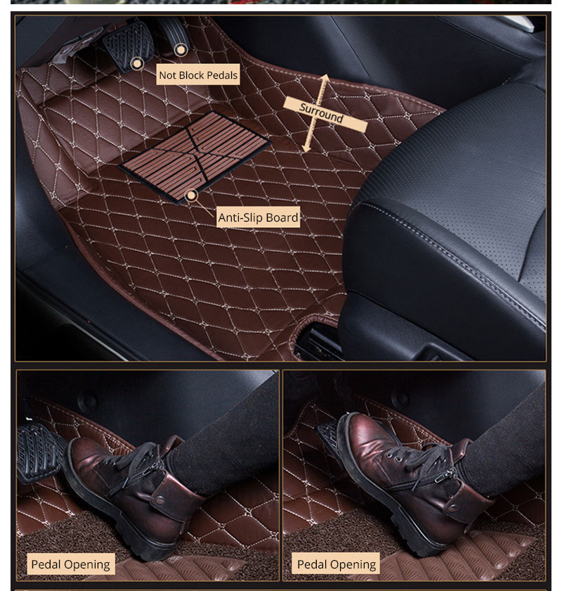 For LHD Hyundai Kona Kauai 2018 2017 Floor Mats Custom Rug Auto Interior Foot Mat Pad Hyundai Encino Car Accessories Car-styling (16)