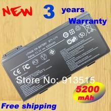 6-cell 5200 мАч ноутбука аккумулятор Акку Батарея для MSI ms1736 cx620 a6205 CX500 cr630 cx623 bty-l74 bty-l75
