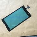 Alta qualidade da tela de toque de vidro painel com digitador cabo flex para sony xperia c s39h + ferramentas de peças de reposição