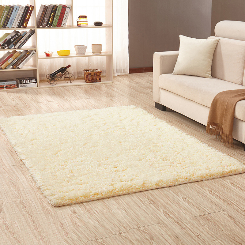 New 16 Color Washed Silk Hair Non-slip Carpet Living Room Coffee Table Blanket Bedroom Bedside Mat Yoga Rugs Solid Color Plush