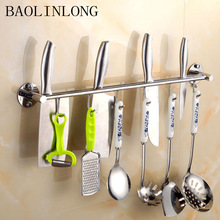 304 Stainless Steel kitchen rack Kitchen Shelf Cooking Utensil Tools Hook Rack Holder