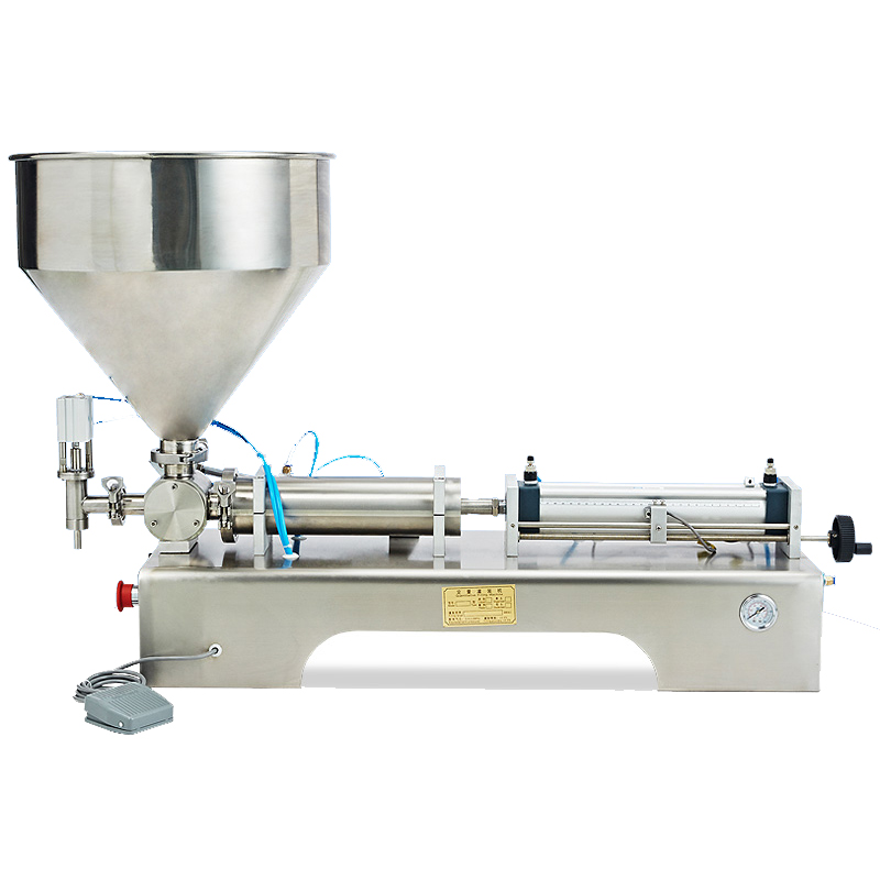 Semi-Automatic Paste Filling Machine Pneumatic Semi Filler Piston Filler Semi-automatic Piston Filling Machine filling nozzles filling heads filling device of pneumatic filling machine liquids filler spare parts