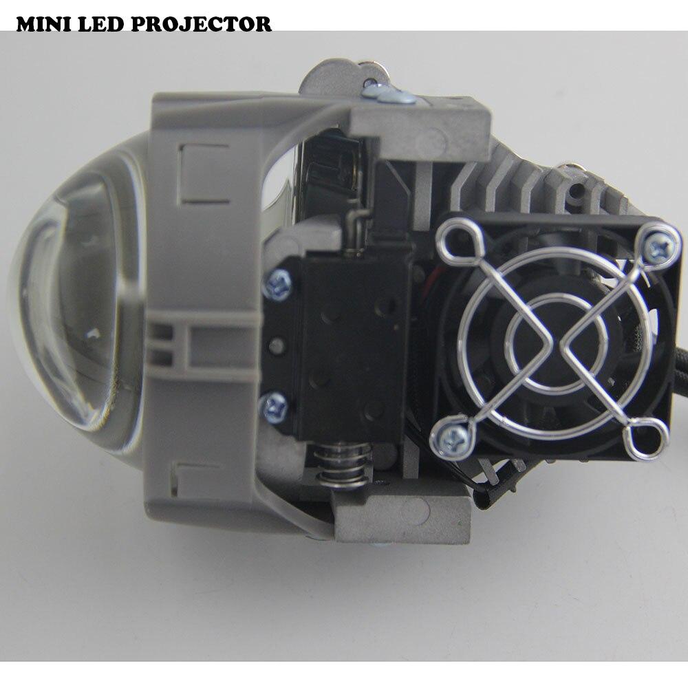 Nouvelle livraison gratuite Shuoke Mini projecteur à lentille bi-projecteur LED 12 V 6000 K