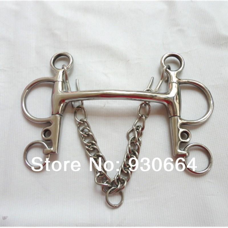 Stainless Steel Mullen Mouth Pelham Bit  Never Rusted Horse Bit 13.5cm H0813
