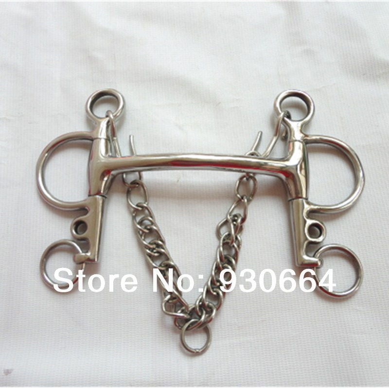 Stainless Steel Mullen Mouth Pelham Bit  Never Rusted Horse Bit H0813